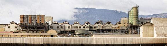 Zinkverarbeitungsfabrik Hobart Stockfoto