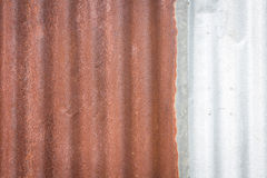 Zinkwand, rostiger Zinkschmutz lizenzfreies stockfoto