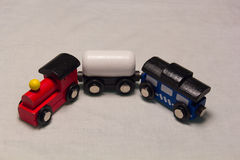 Zinn-Spielzeug-Serie mit Zeichen Stockbild