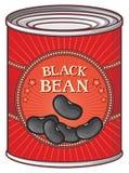 Zinn von schwarzen Bohnen Lizenzfreies Stockfoto