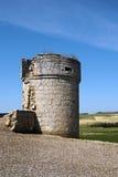 Zinne des Schlosses von Trigeros del Valle Lizenzfreies Stockfoto