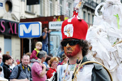 Zinneke Parade in Brussels Royalty Free Stock Photography