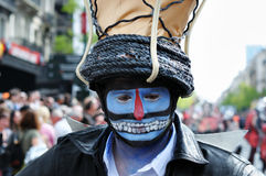 Zinneke Parade faces 2012 Royalty Free Stock Photos