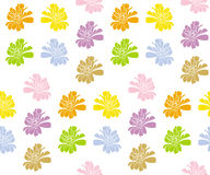 Zinnia colorful seamless pattern. (Vector). Zinnia white pattern (pink brown green blue orange violet yellow royalty free illustration