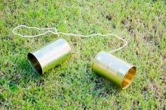 Zinntelefon Stockbild