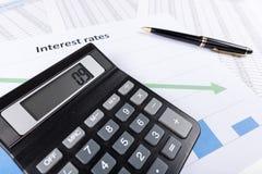 Zinssätze Lizenzfreie Stockfotos