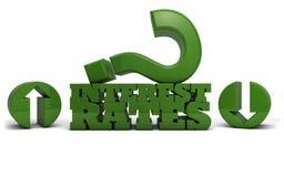 Zinssätze auf oder ab Lizenzfreie Stockfotografie