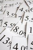 Zinssatz-Hintergrund Stockfotografie