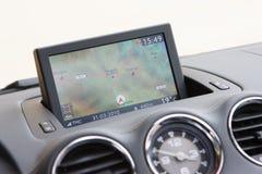 Zintegrowany GPS w desce rozdzielczej nad Hiszpania Fotografia Royalty Free