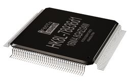 Zintegrowany - obwód, lowpass mikro układ scalony lub nowe technologie na odosobnionym obraz stock