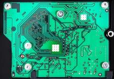 Zintegrowany - obwód na binarnym tle, IC układu scalonego deska IC tło zdjęcia stock