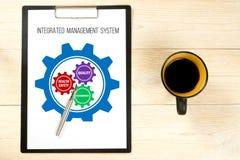 Zintegrowany system zarządzania, części i zysku pojęcie, zdjęcia royalty free