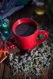 Ziołowa gorąca herbata z macierzanką Zdjęcia Royalty Free
