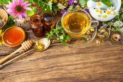 Ziołowa herbata z miodem Obraz Stock