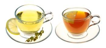 Ziołowe herbaty odizolowywać na białym tle Obrazy Royalty Free