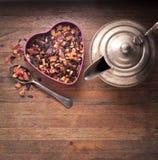 Ziołowej herbaty drewna tło Obraz Royalty Free