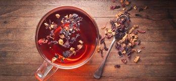 Ziołowej herbaty Teacup tło Zdjęcie Stock