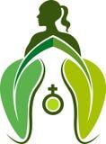 Ziołowej medycyny logo ilustracja wektor