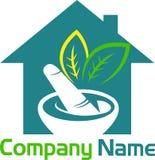 Ziołowy domowy logo ilustracji