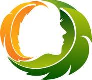 Ziołowy twarzowy logo ilustracji