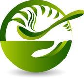 Ziołowy zupny logo ilustracja wektor