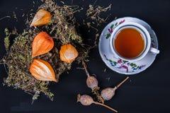 Ziołowa herbata w kubku zdjęcie royalty free
