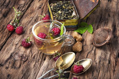 Ziołowa herbata z malinkami Fotografia Royalty Free