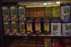Ziołowe herbaty w sklepie Obraz Royalty Free