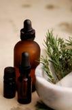 ziołowe olejów Obrazy Royalty Free