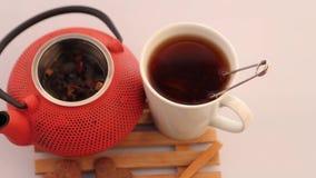 ziołowej herbaty teapot zbiory wideo