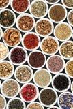 Ziołowej herbaty wybór Zdjęcia Royalty Free