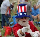 Zio Sam Santa Claus Fotografia Stock Libera da Diritti