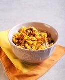 Ziobro z ryżową potrawką zdjęcie royalty free