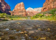 Zion ängels landning, Zion National Park, UT Royaltyfri Foto