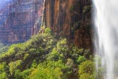 zion водопада Юты национального парка Стоковые Изображения RF