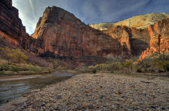 zion каньона Стоковые Фото