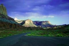 zion национального парка каньонов Стоковая Фотография