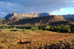 zion национального парка стоковое фото