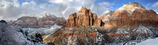 zion национального парка стоковые изображения rf