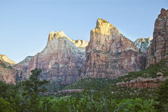 zion патриархов 3 каньона Стоковые Изображения