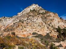 zion пика горы пустыни Стоковая Фотография