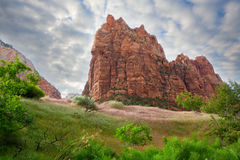 Zion. Scenic landscape in Zion National Park in Utah Royalty Free Stock Photo
