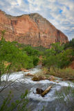 Zion. Beautiful view of the Virgin River in Zion National Park Stock Photography