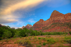 Zion. Scenic landscape in Zion National Park in Utah Stock Photography