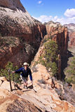 Zion Angels Landing Ascent Stock Image