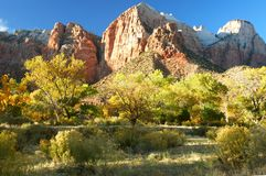 Zion In Autumn - Zion National Park Royalty Free Stock Image