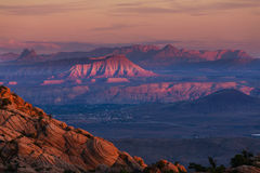 Zion bei Sonnenuntergang stockfotos