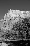 Zion bianco e nero Fotografia Stock