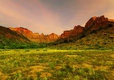 Zion bij zonsopgang Royalty-vrije Stock Afbeelding