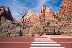 Zion Bus Stop Royalty Free Stock Photography